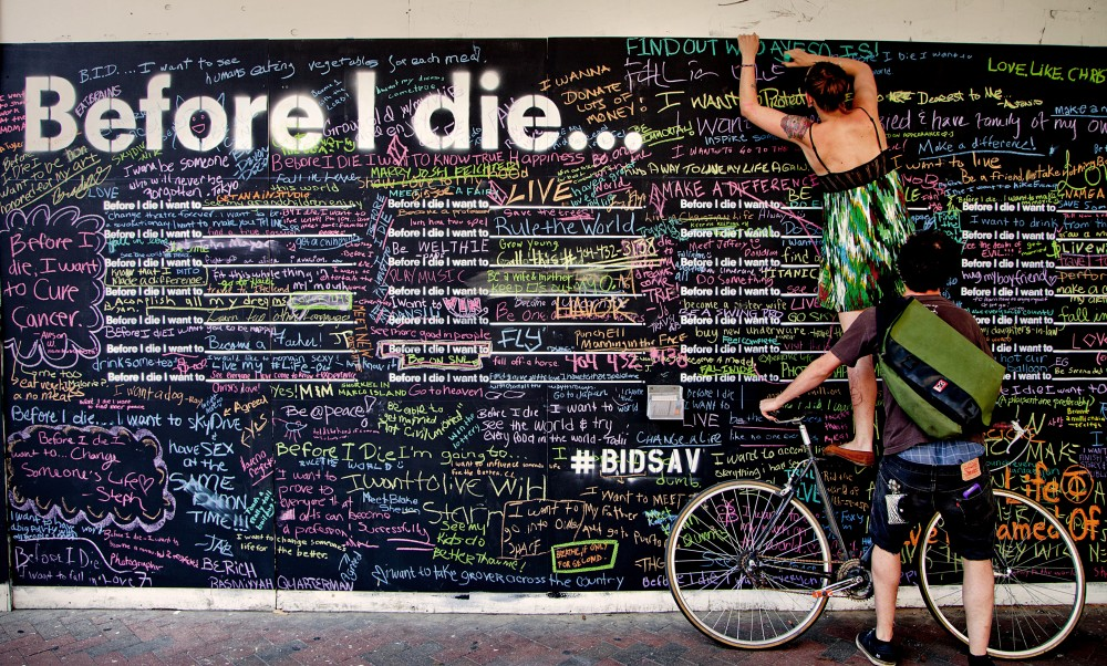 No. 6 Church Square, St Helens: Before I die, Candy Chang
