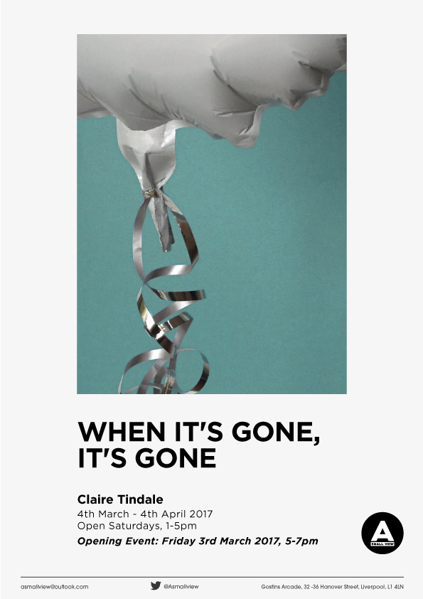 A Small View: When It's Gone It's Gone, Claire Tindale