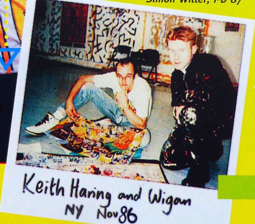 Mark Wigan with Keith Haring, New York, November 1986.