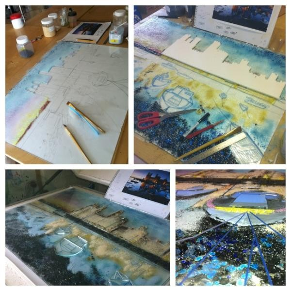 The Silver Zebra: Fused Glass wall panel workshop