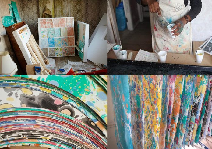 Cass Art Liverpool: Marbling Workshop