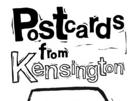 Croissant of Inequality: Postcards from Kensington: Lino Printing