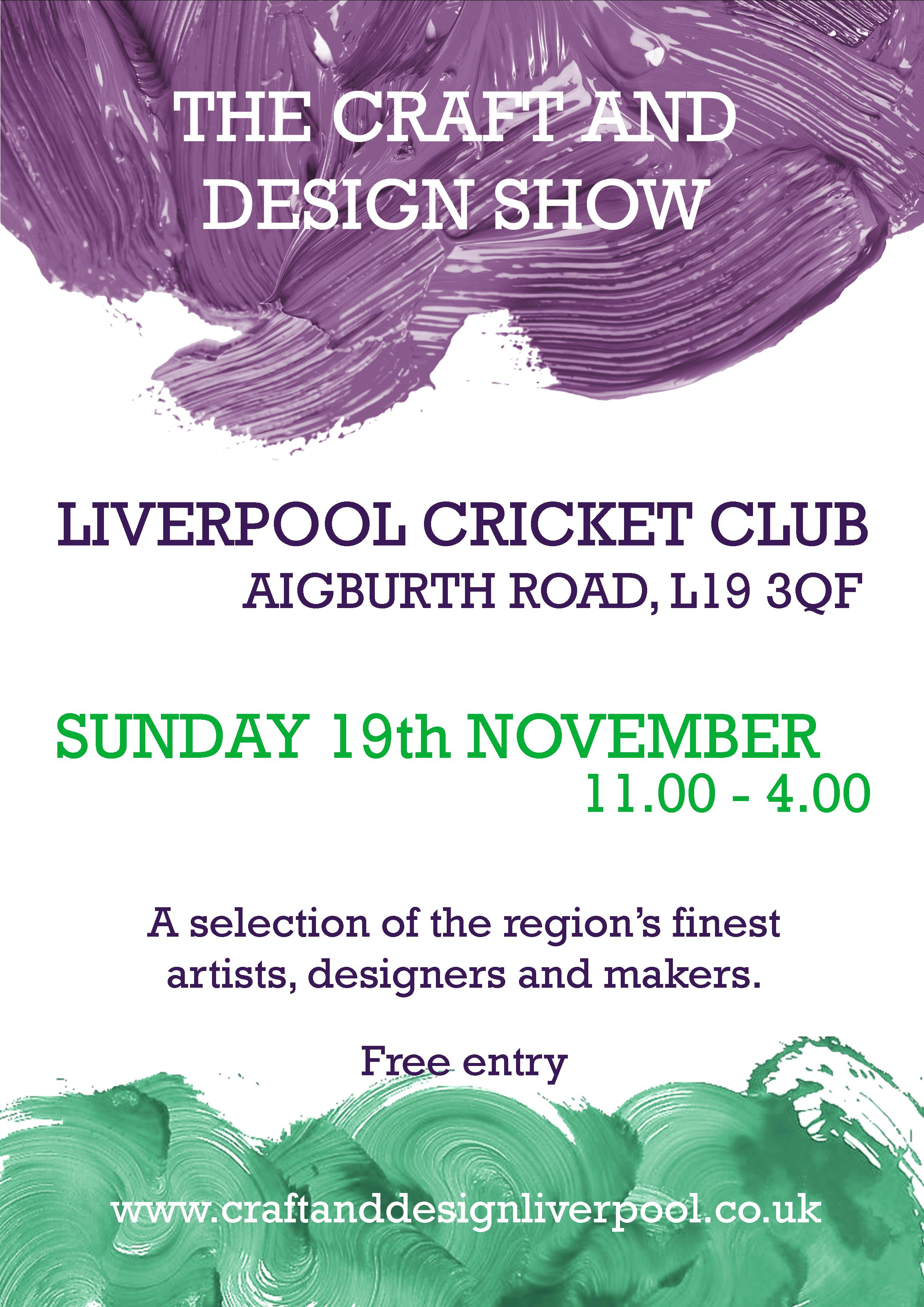 Liverpool Cricket Club: The Craft and Design Show 2017