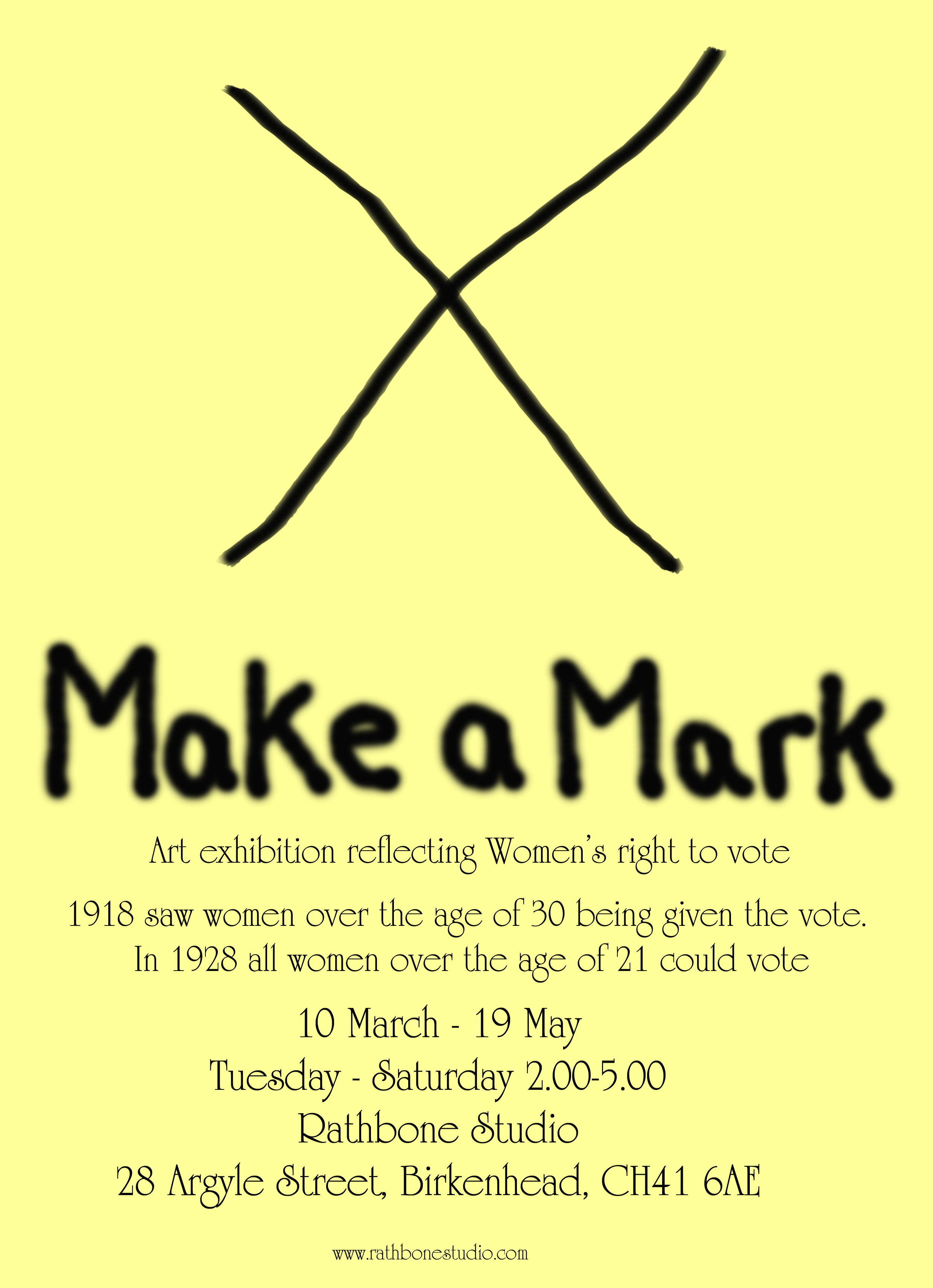 Rathbone Studio: X  Make a Mark