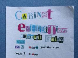 Bridewell Studios: Cabinet Exhibition