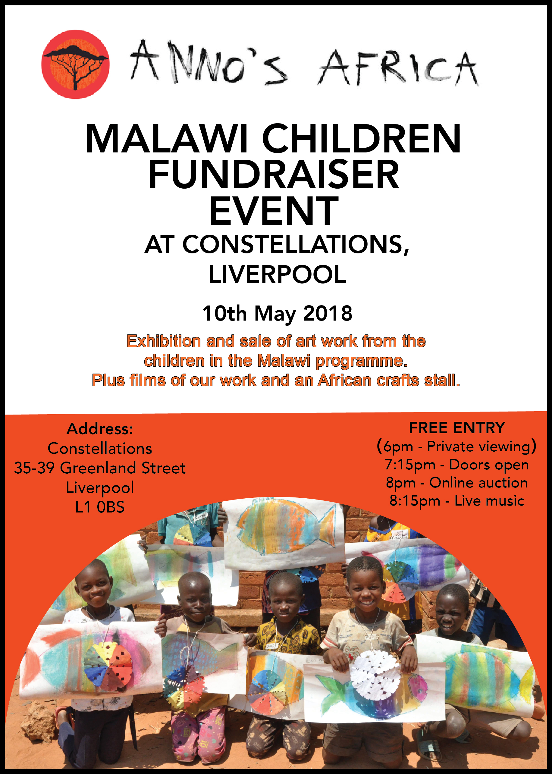 Constellations: Anno's Africa: Malawi Children fundraiser