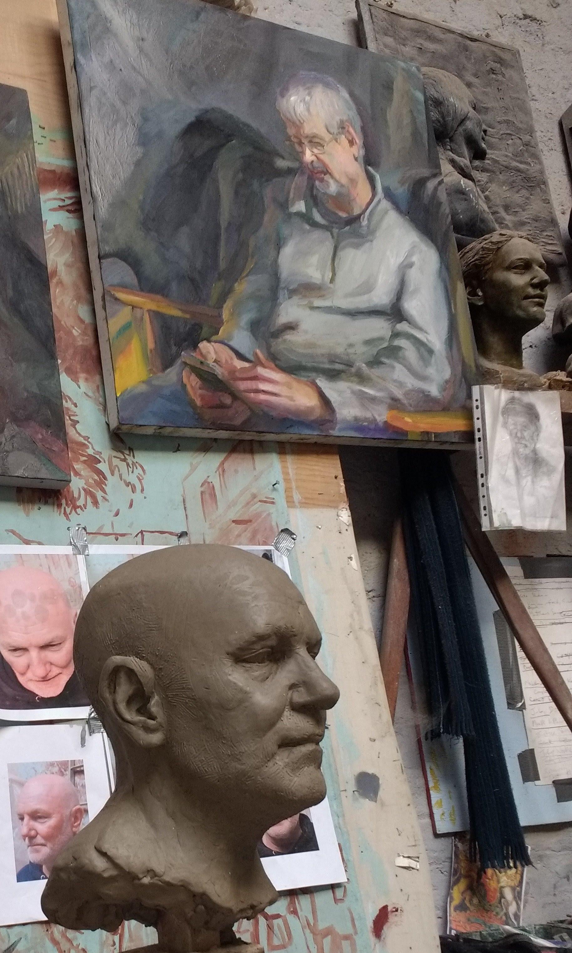 Kirkby Gallery: Portrait drawing demonstrations with Philip Garrett