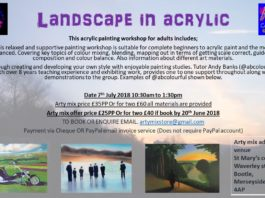 Arty Mix: Landscape in acrylic