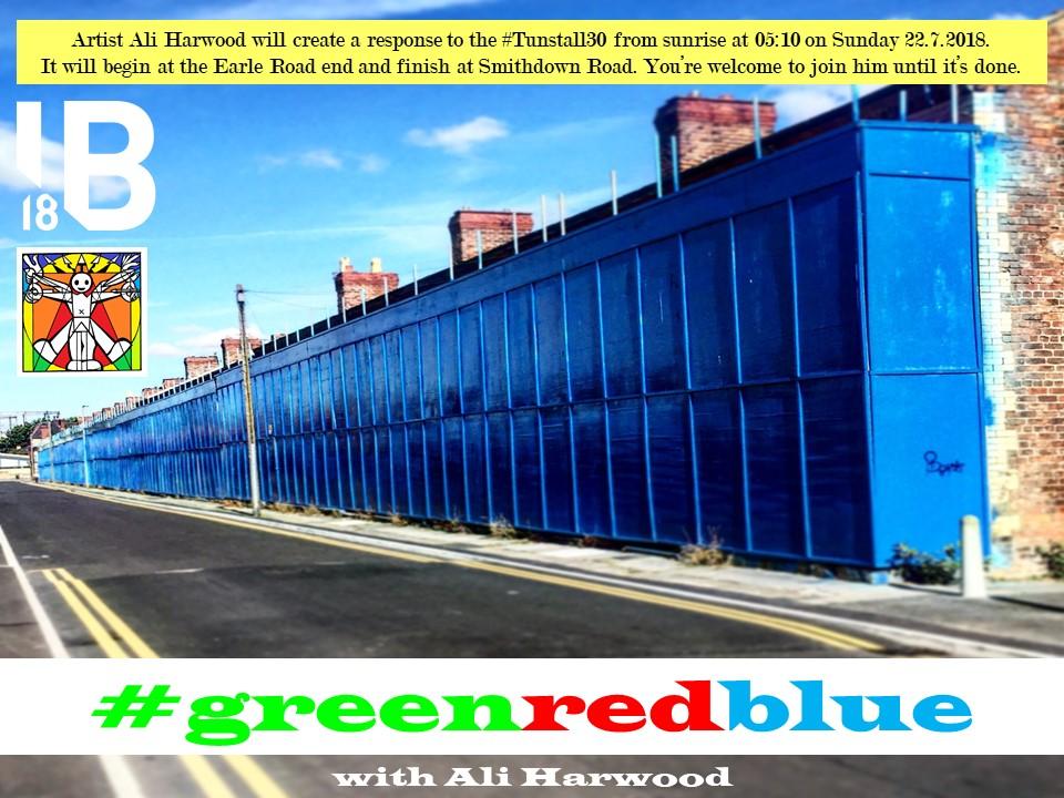 IB18: Tunstall Street: #Tunstall30 #greenredblue making event
