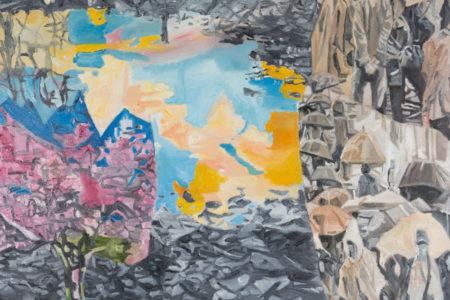 Jasmir Creed 'Pool of Life' 2018 oil on canvas 120 x 90 cm
