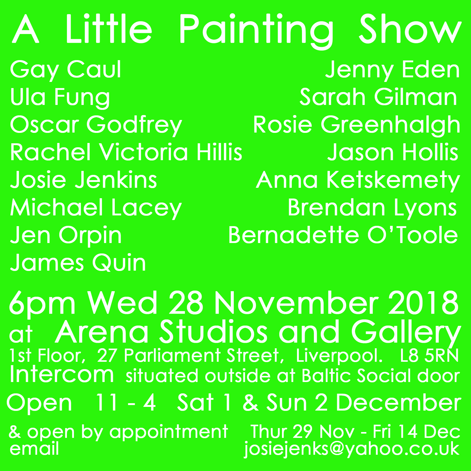 Arena Studios: A Little Painting Show