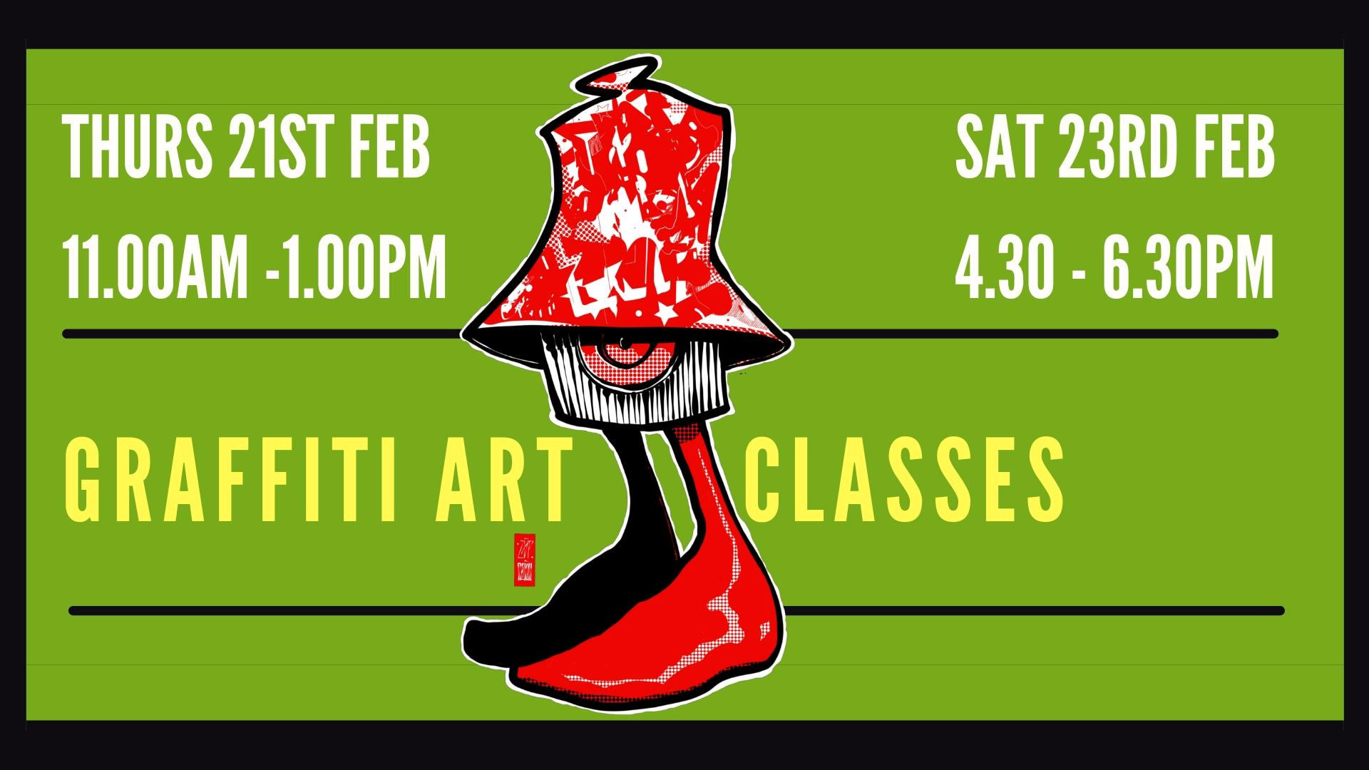 Zap Graffiti: Half Term Graffiti Art Classes