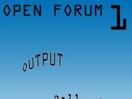 Exhibition Research LAB: Open Forum 1 - OUTPUT gallery