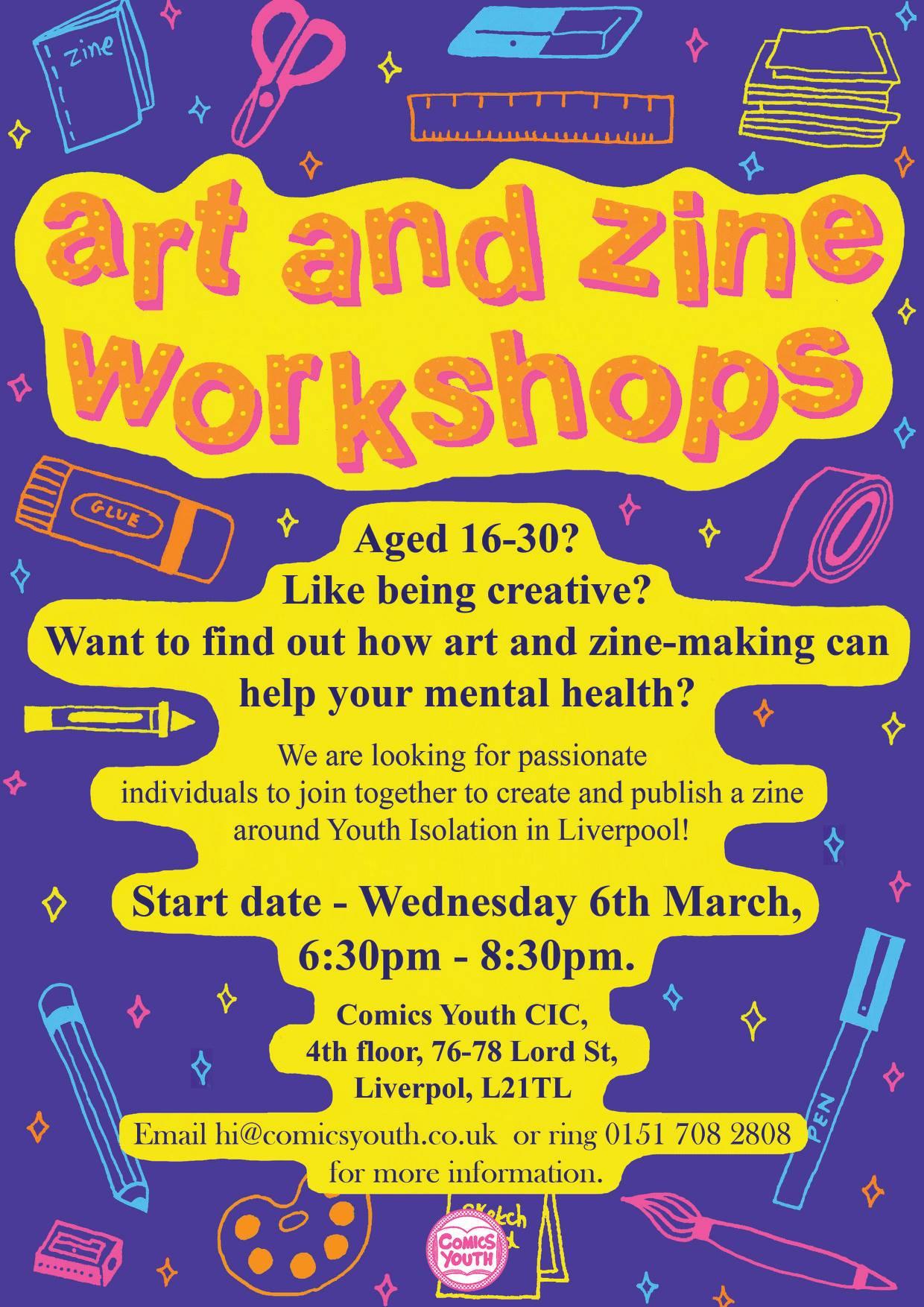 Comics Youth: Youth Isolation Zine Workshops