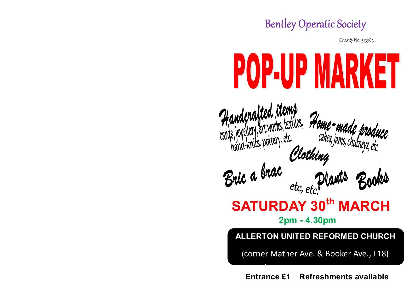 United Reformed Church: Pop-up Market