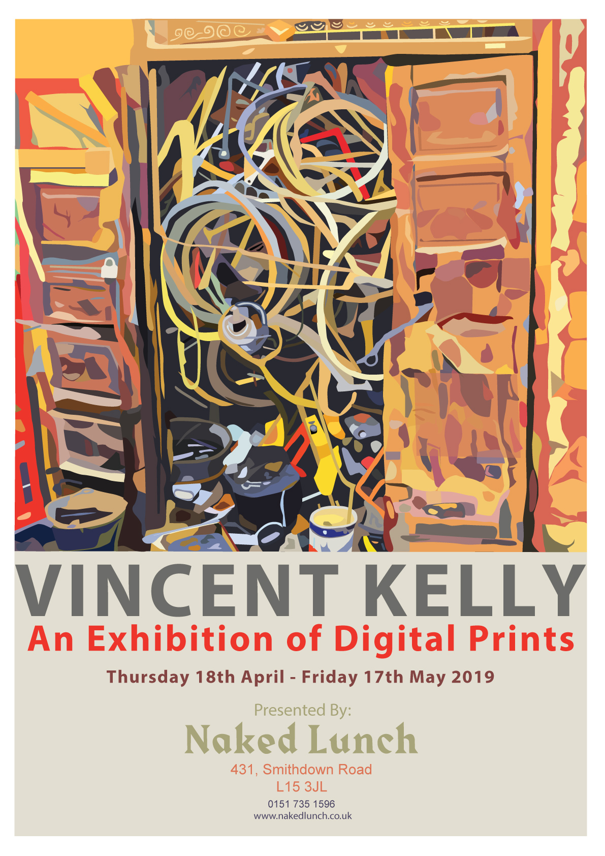 Naked Lunch: An Exhibition of Digital Prints by Vincent Kelly