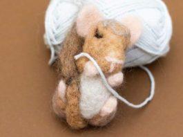 Make. North Docks: Introduction to Needle Felting: Sleeping mice
