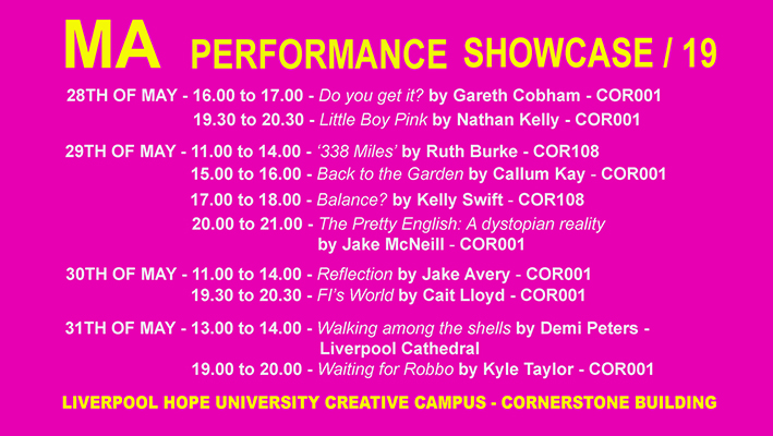 Liverpool Hope University: MA Performance Showcase