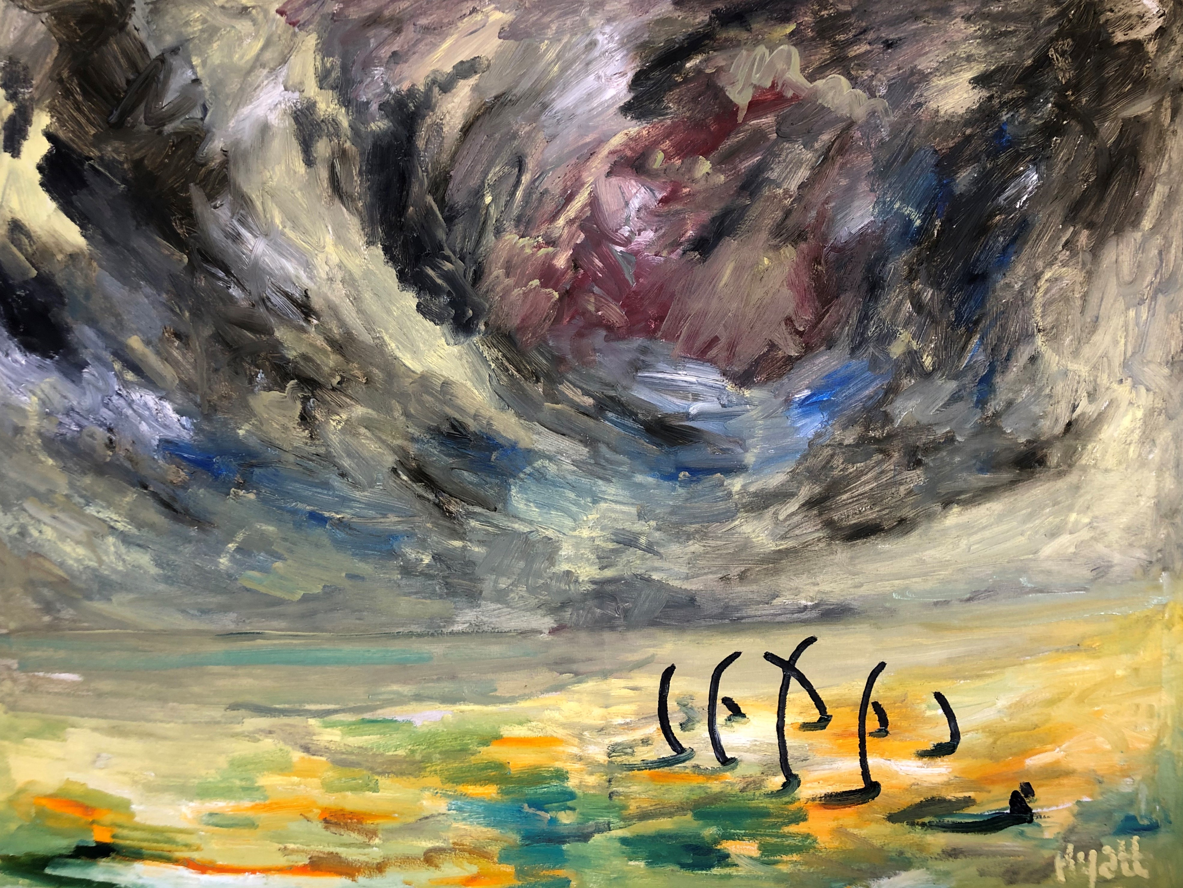 The Cube: Sea, Air and Wrecks: New Paintings by John Hyatt