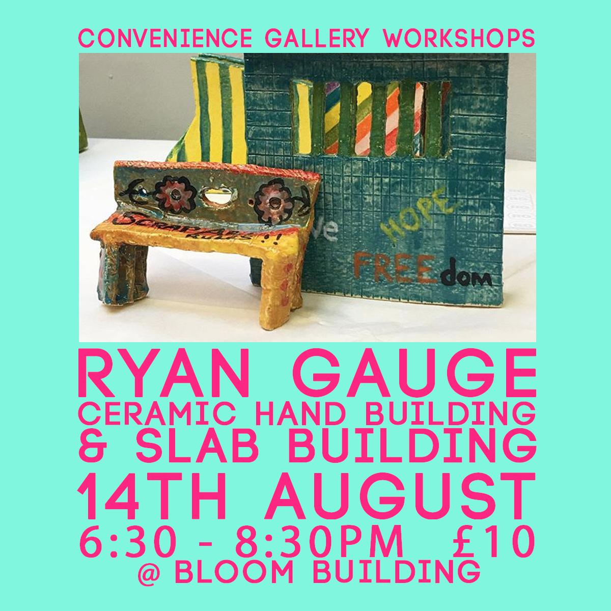 Bloom Building: Simple ceramic hand building techniques (slab building) w. Ryan Gauge