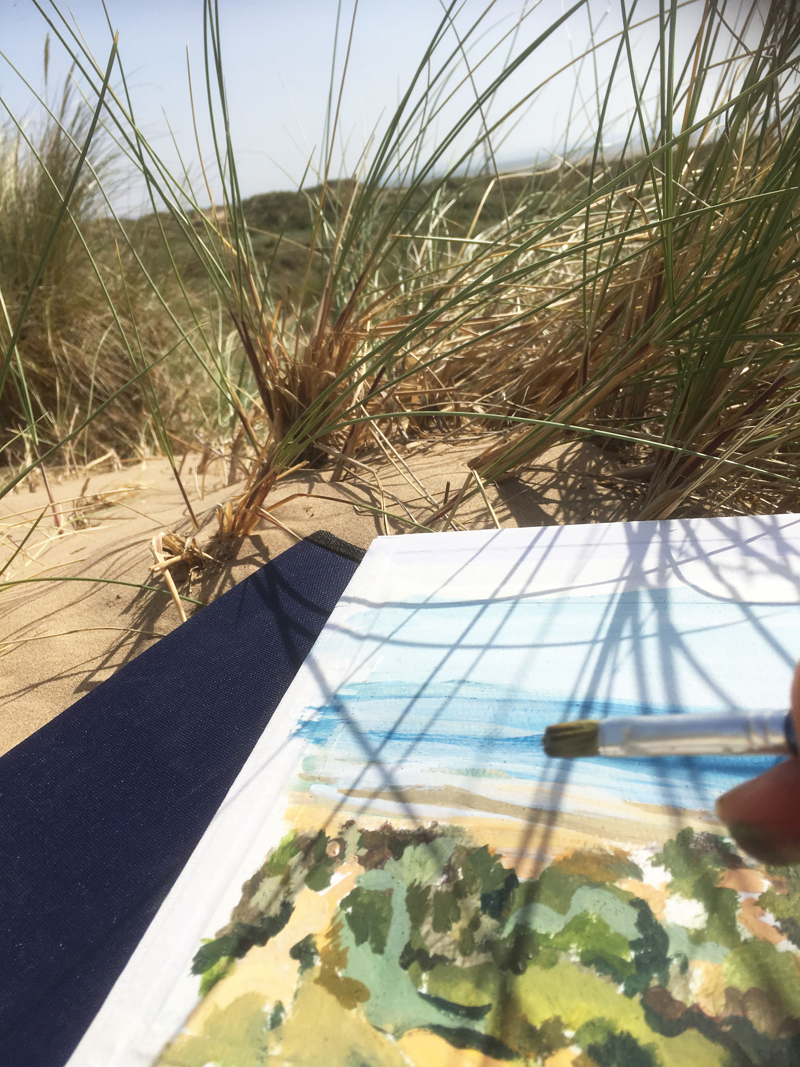 St Luke's Church, Formby: Gems in the Dunes, Outdoor Adult Painting Workshop