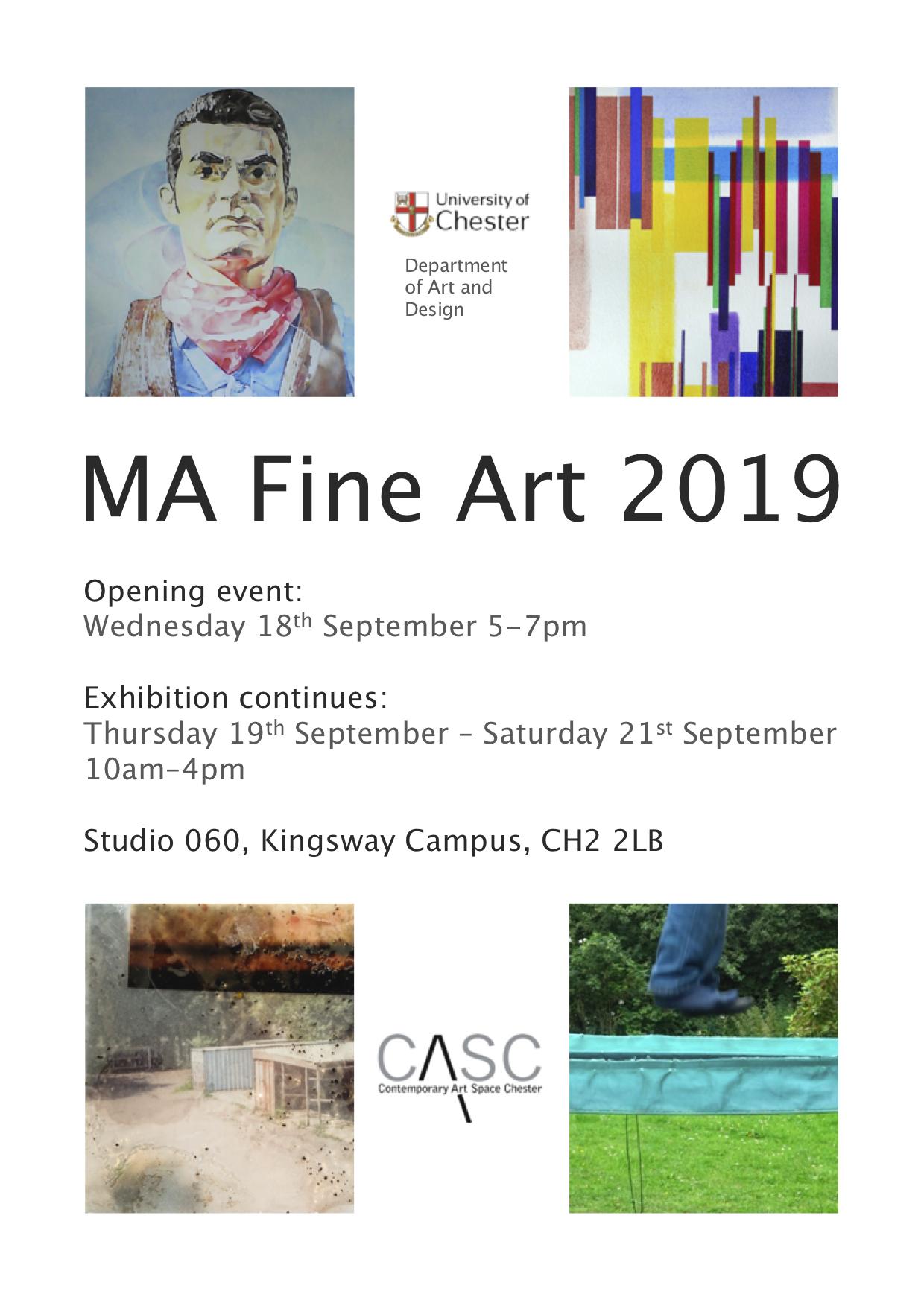 University of Chester: MA Fine Art Exhibition 2019