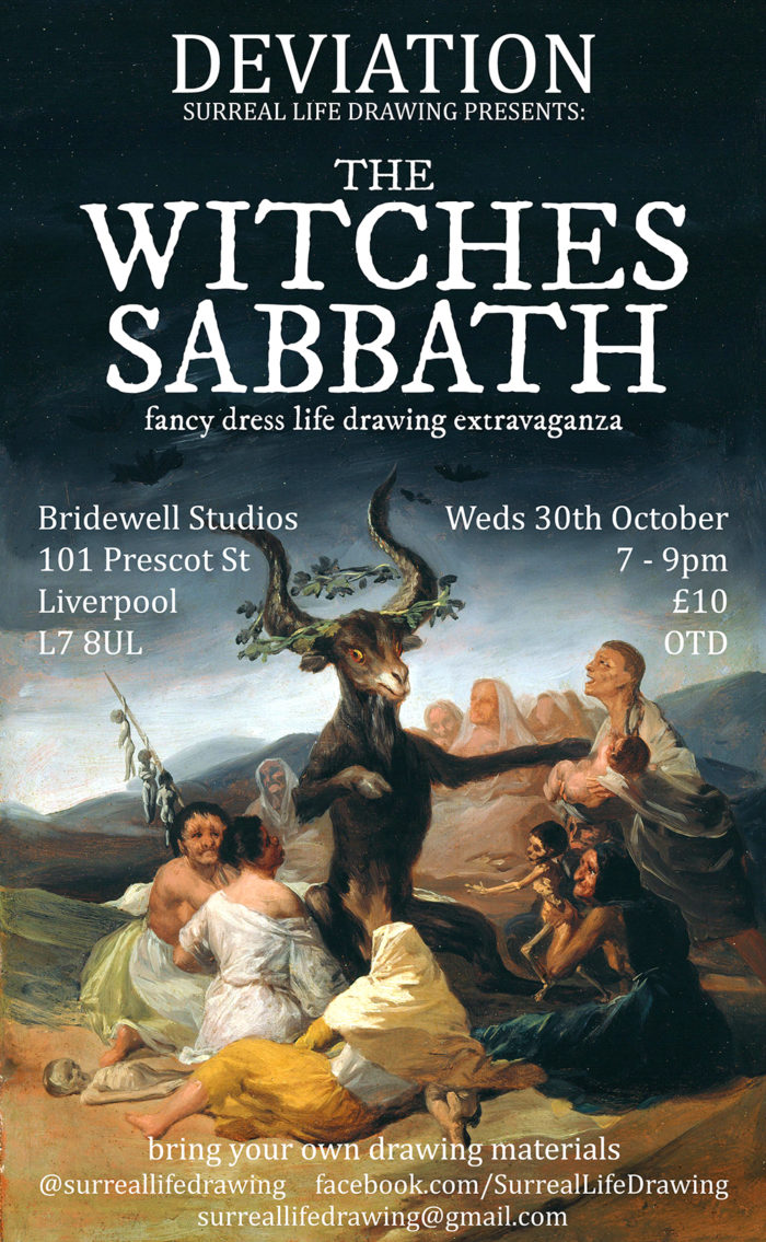Bridewell Studios: The Witches Sabbath: Fancy Dress Life Drawing Extravaganza