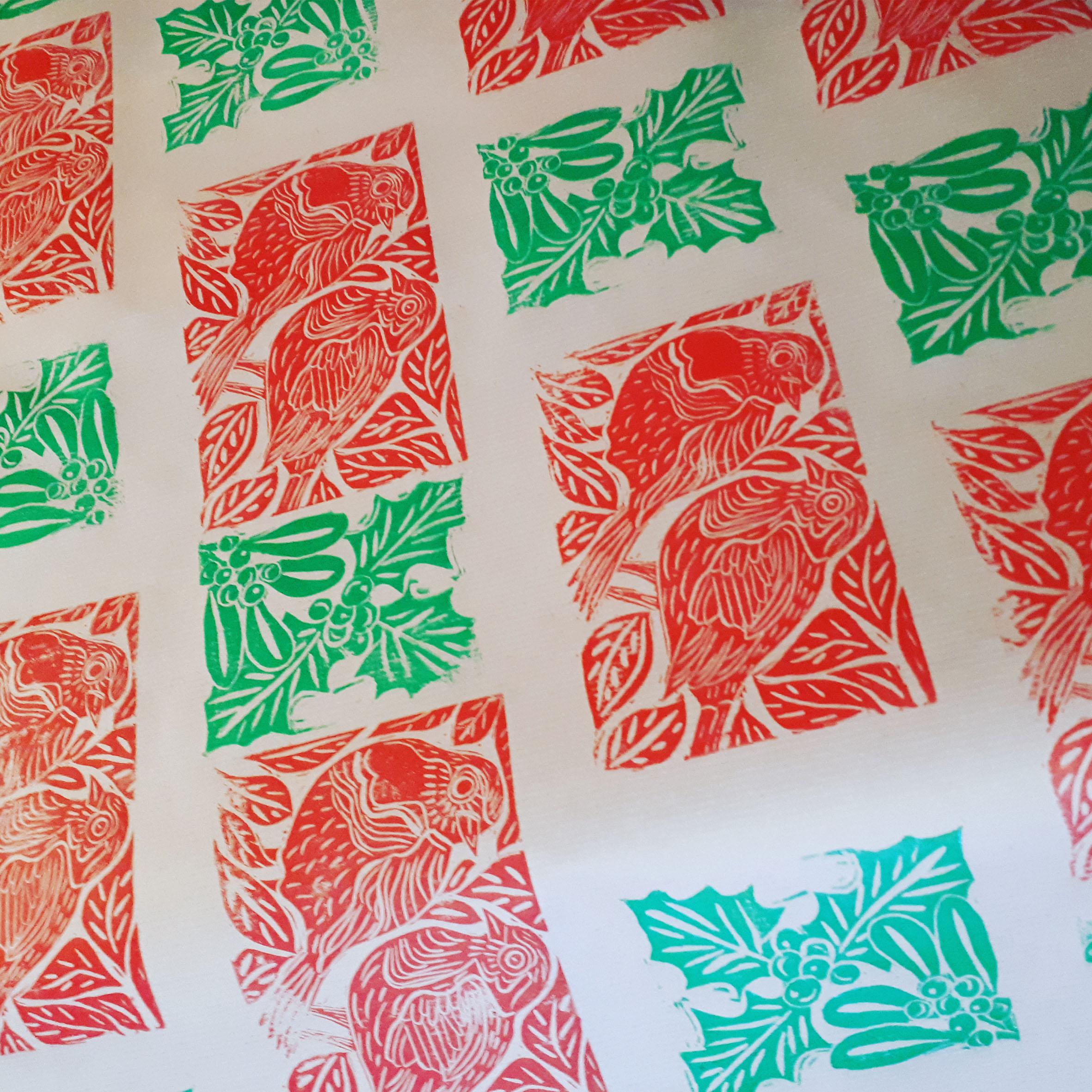 The Paper Moon: Festive Lino Print Workshop