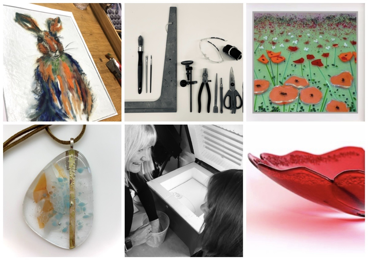 The Silver Zebra: Introduction to Fused Glass workshop