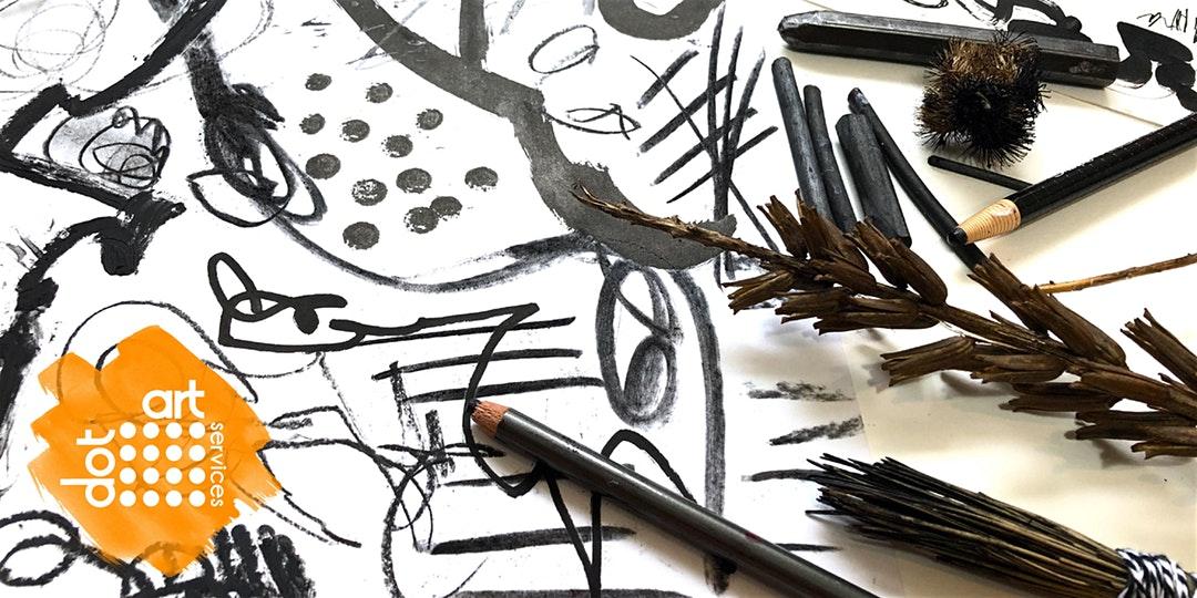 The Reader: dot-art: Leaving Your Mark: Shared Mark Making & Storytelling