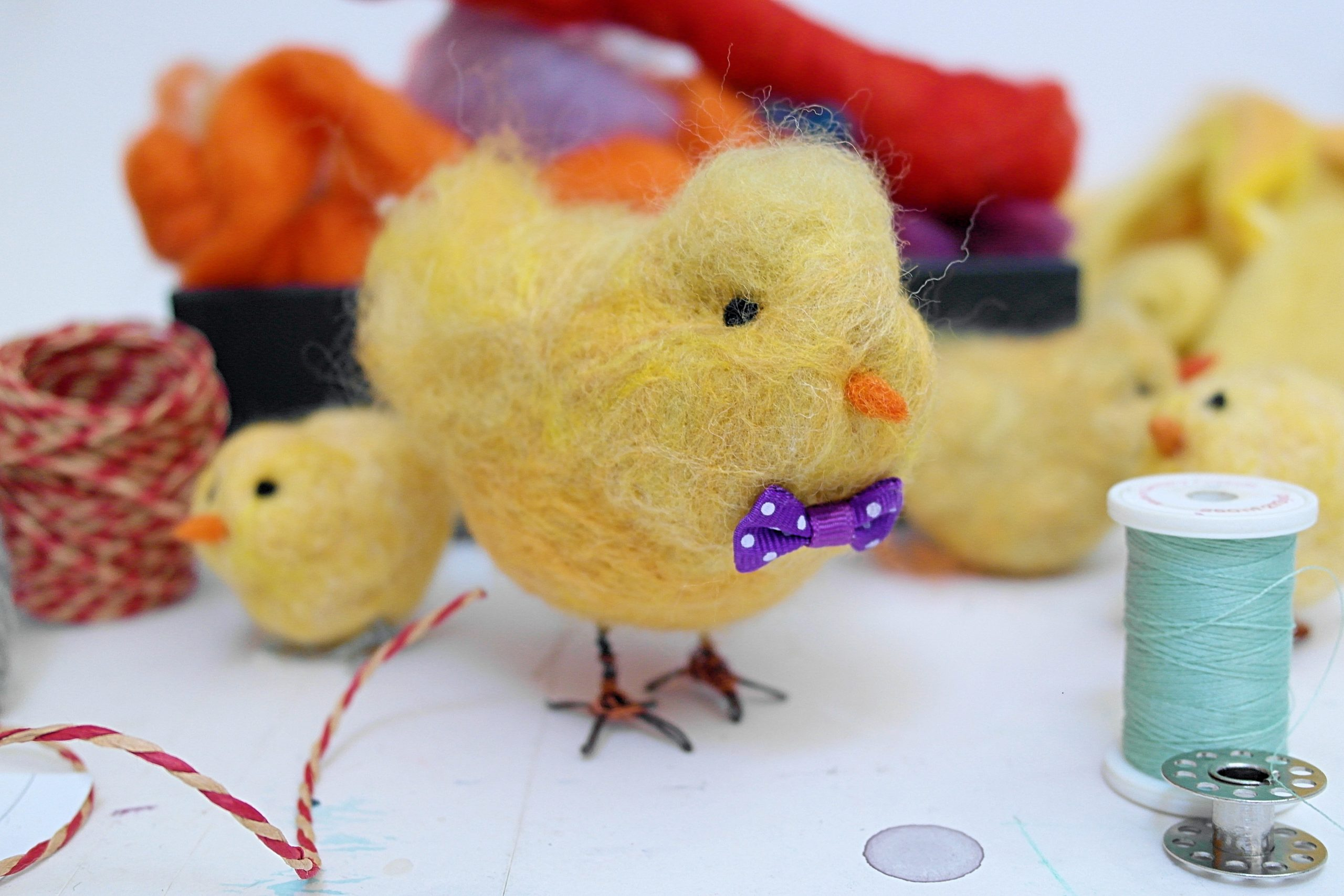 Needlefelt Easter Chick - ONLINE via ZOOM with KIT included (and P&P)