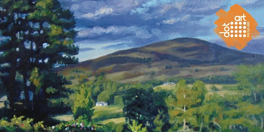 The Reader (dot-art): Landscape Painting En plein air