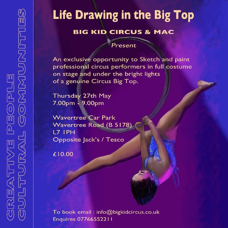 Wavertree Car Park: Life drawing at the Circus