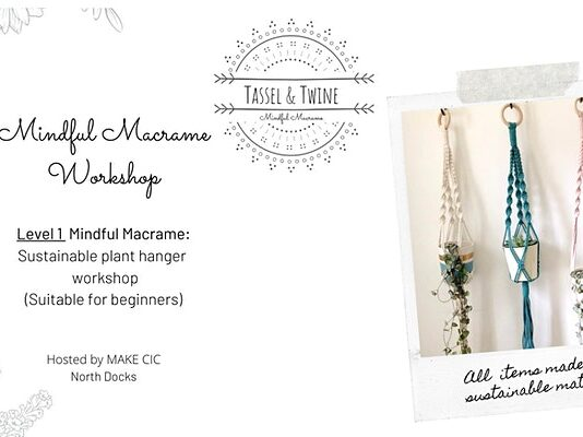 Make. Hamilton Square: Summer Solstice: Level 1 Mindful Macramé Sustainable Plant Hanger Workshop