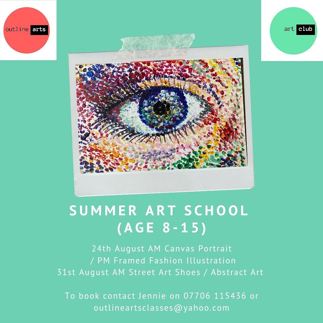 Outline Arts: Summer Art School - Street Art Canvas Shoes