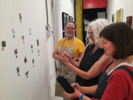Hub Studios Gallery: Breaking Labyrinths: A Collage + Walking + Video Projection