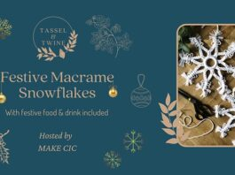 Make North Docks: Festive Macramé with Cheese and Wine